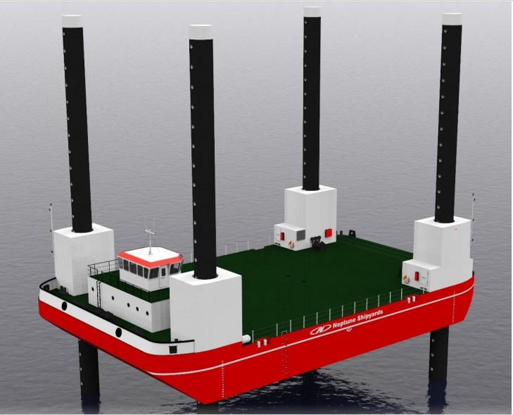 39 Meter Length  Barge Vessel