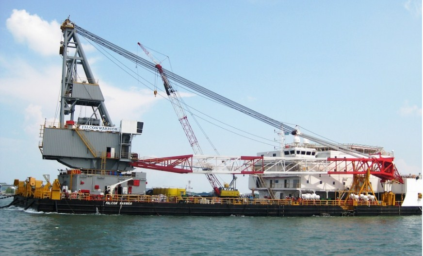 91 Meter Length Accommodation Derrick Barge