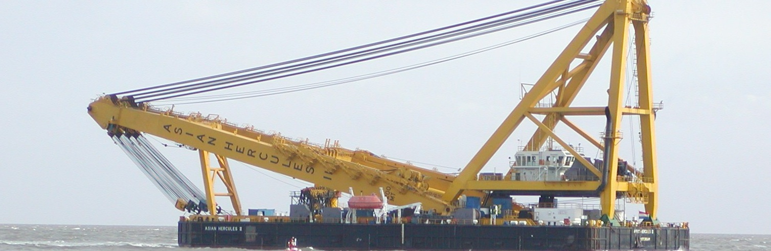 91 Meter Length Floating Crane
