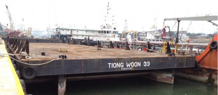 52 Meter Length  Top Deck Cargo Barge