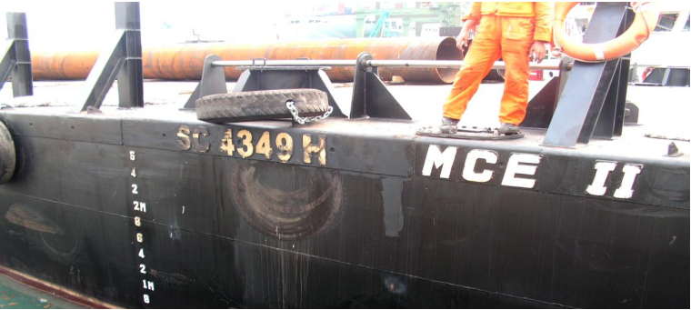 45 Meter Length  Flat Top Deck Cargo Barge