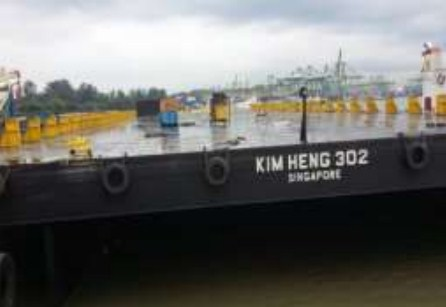 87 Meter Length  Offshore Ballastable Cargo Deck Barge