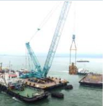 76 Meter Length  Crawler Crane Work Barge