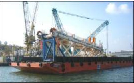 70 Meter Length offshore Ballastable Work Barge