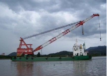 52 Meter Length  Floating Crane Barge
