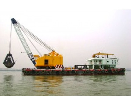 21 Meter Length Floating Crane Barge