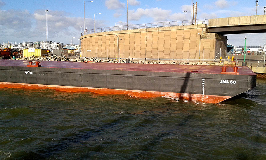 50 Meter Length Deck Cargo Barges