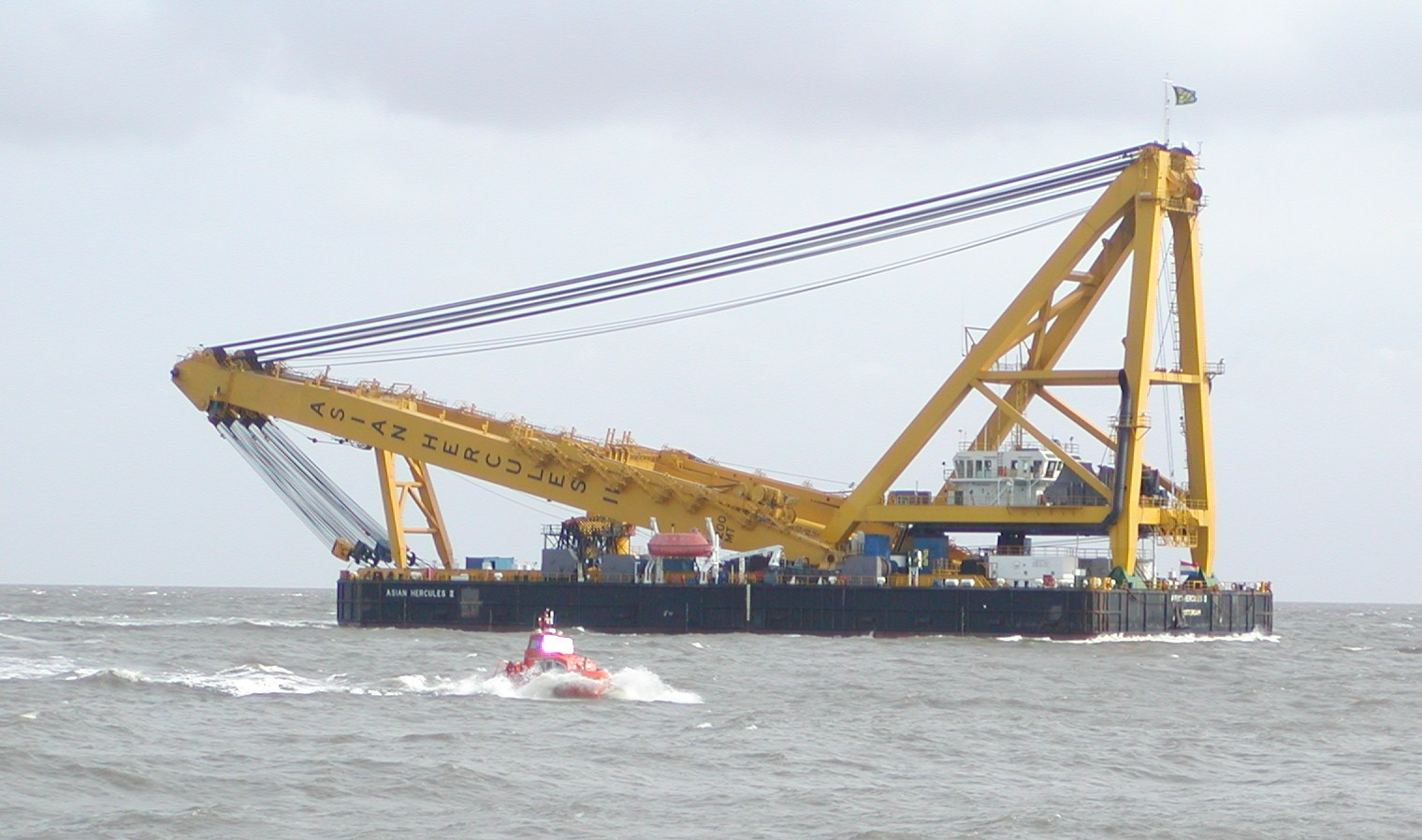 91 Meter Length  Floating Crane Vessel