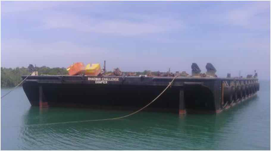 55 Meter Length Flat Top Barge vessel